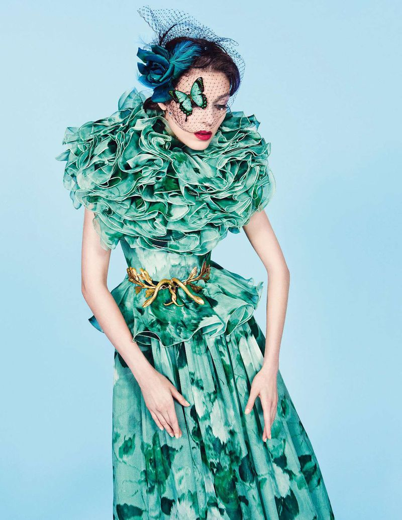 Kati Nescher by Inez & Vinoodh (Un Songe En Hiver - Vogue Paris November 2012) 8